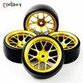 4Pcs/set 12mm Hex Drift Tires Wheel Hub Rim For HSP HPI RC 1:10 On Road Car Tyre 6mm Offset PP0477+ DHG