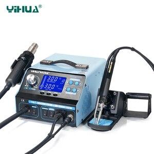 Image 2 - YIHUA 992DA + LCD stacja lutownicza z palenia lutowane żelazo próżniowe długopis BGA stacja lutownicza na gorące powietrze suszarki spawania stacja