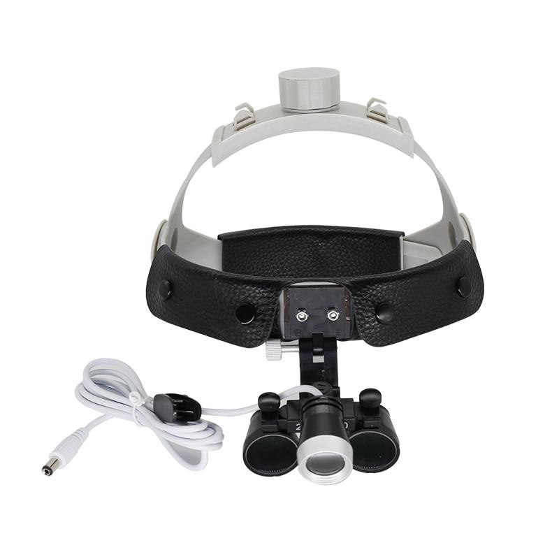 2.5x/3.5x lupa cirúrgica dental dentista óptico lupa binocular lupa cirurgia com luz led