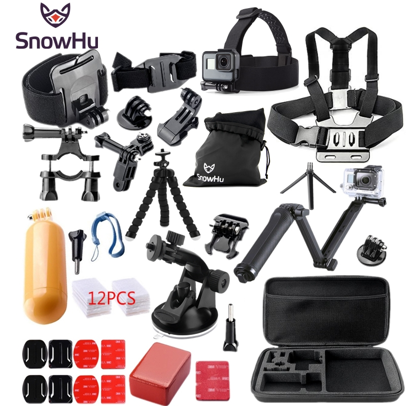 Gopro accessories 3-way Tripod Monopod go pro kit mount for SJ4000 gopro hero 5 4 3 Black Edition SJCAM xiaoyi chest tripod GS46