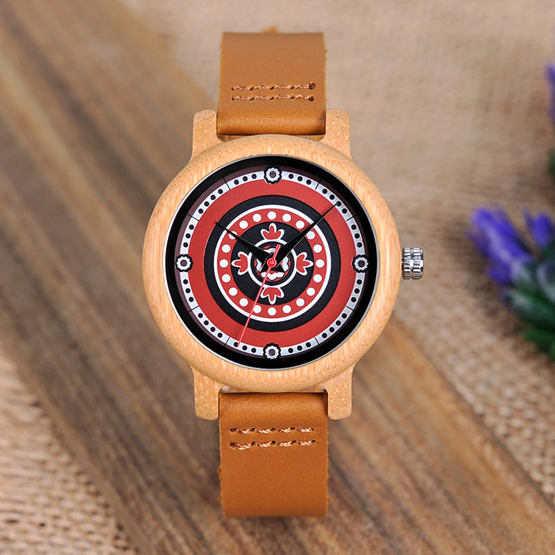 BOBO BIRD Brand Women Bamboo Watches Ladies Quartz Wristwatches Female Clock Lady Quartz Watch Relogio Feminino C-aJ19