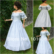 1860S Victorian Corset Gothic/Civil War Southern Belle Ball Gown Dress Halloween dresses  US 4-16 V-1209