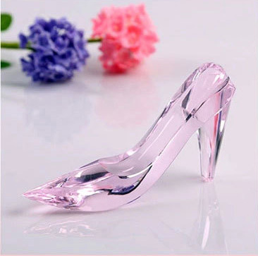 13 3 7cm Beautiful k9 Crystal Valentine s Day gift Cinderella Fairy Tale  glass Shoes Wedding Decoration best souvenir DIY-in Party DIY Decorations  from Home ... 4fd2ced80de1