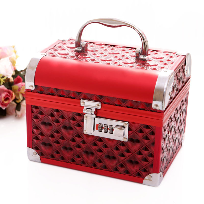 2017 China style wedding decoration upscale jewelry box with lock