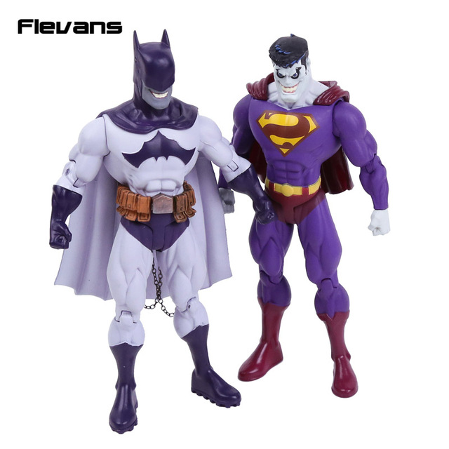 "DC COMICS Super hero Evil Batman / Superman PVC Action Figure Collectible Model Toy 7"" 18cm"