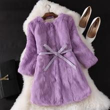 2017 New Fashion Faux fur coat Winter jacket Long sleeve women Rabbit fur coat