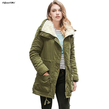 Fleece Parkas winter coat women 2018 winter font b jacket b font women Parkas warm long