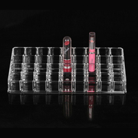 2016 New 36 Grids Lipstick Frame Holder Cosmetics Display Case Rack Makeup Stand Organizer For Jewelry