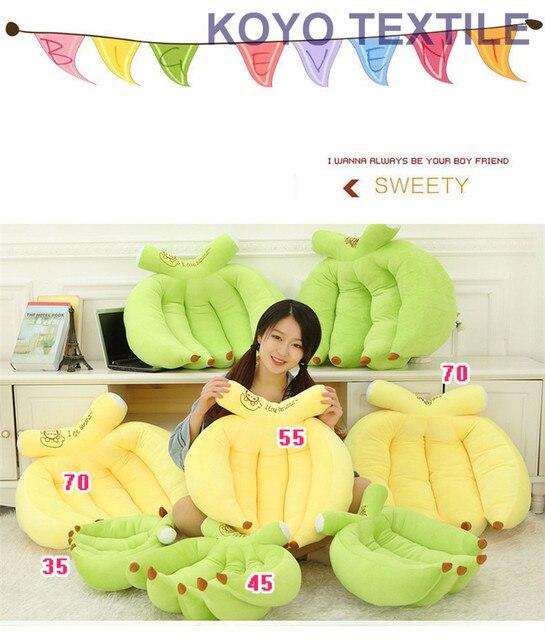 Лидер продаж Новые творческие 3D летние яркие фрукты Подушки детские вышитые банан Форма Офис назад Подушки диван Пледы Подушки Детские друг подарок
