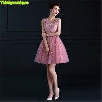 V neck short homecoming dresses 2019 robe de soiree longue vestido de festa longo A line gown formal Dress abendkleider SA011
