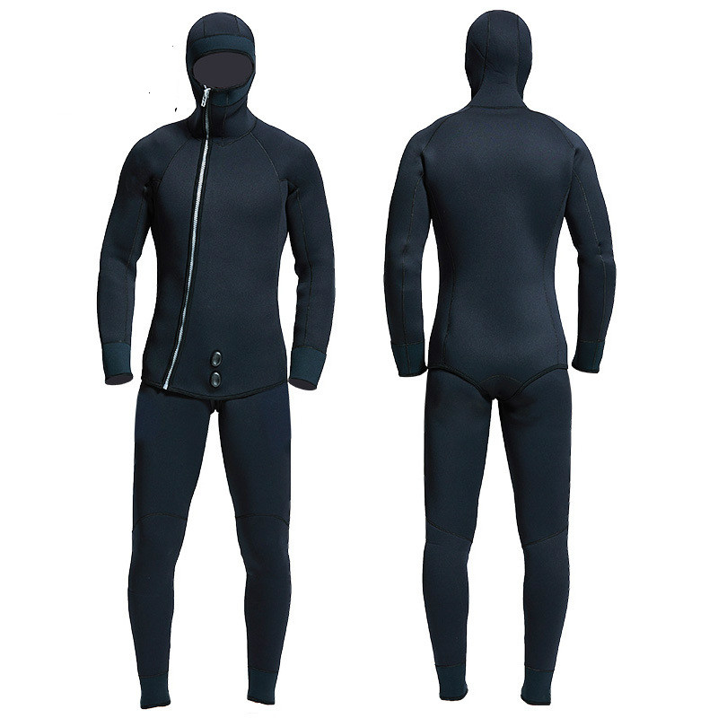 Professional thick 5mm 7mm Neoprene Wetsuit Winter Warm ...