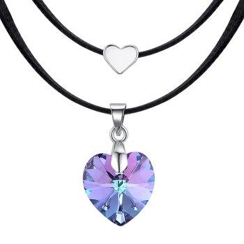 e1225039edff BAFFIN corazón cristal de Swarovski moda gargantillas collares para mujeres  doble cuerda cadena collares declaración de joyería de la boda