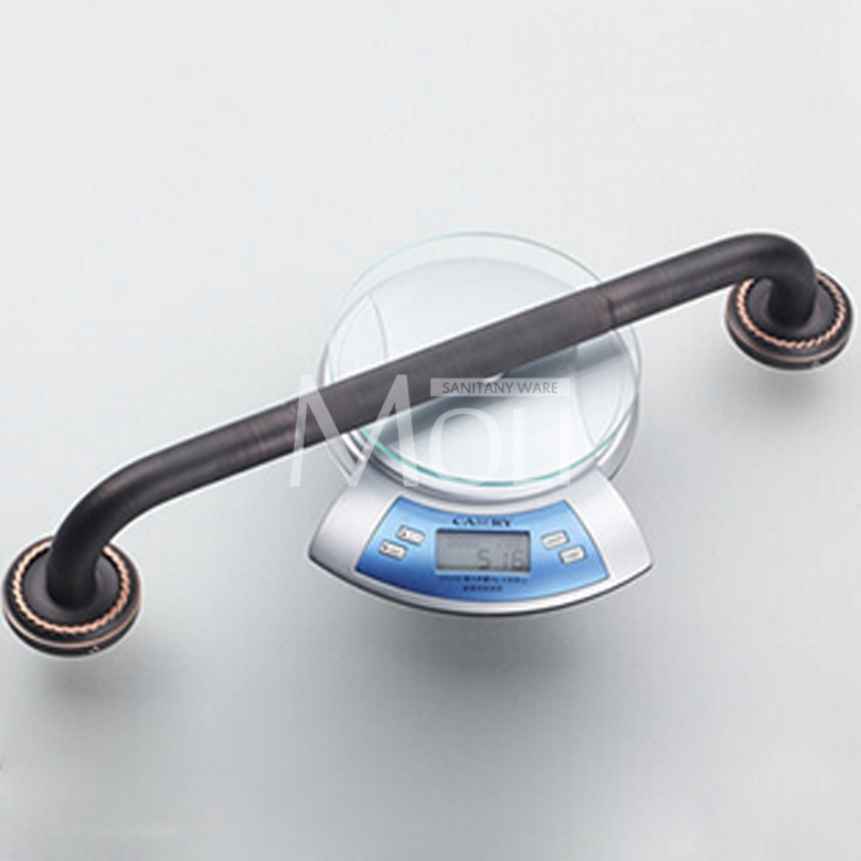 Black bathroom accessories soild brass oil-rubbed bronze grab bar bathtub handrails safety handle barra ducha