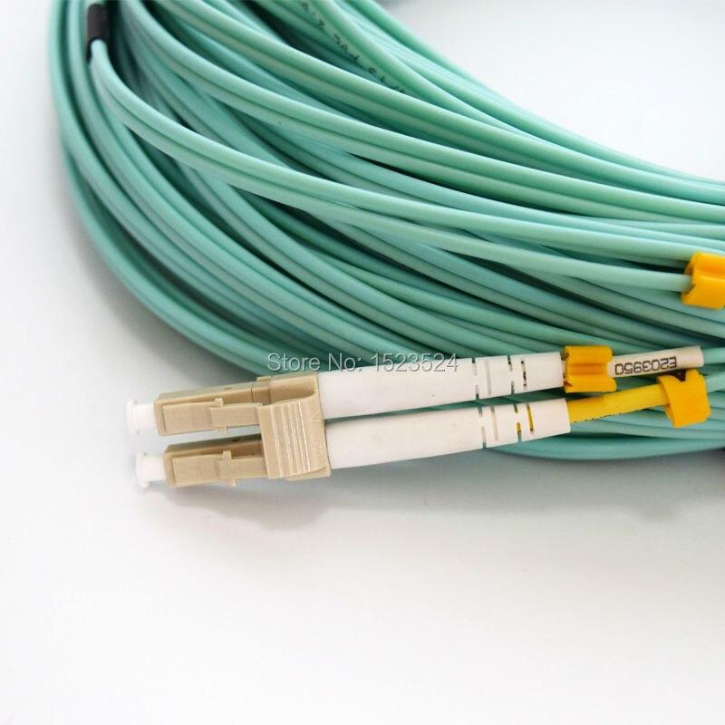 5m LC-LC UPC Multi-Mode OM3 10GB Cable Duplex Fiber Optical Jumper Patch Cord