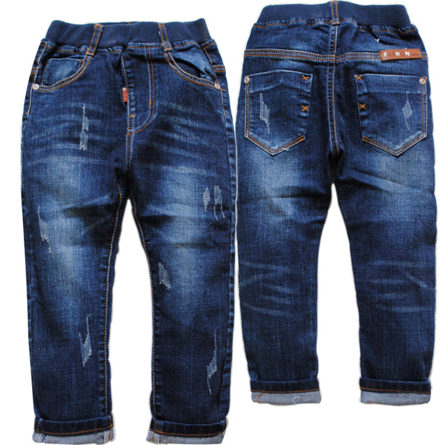 3947 boys jeans pants navy blue casual pants denim trousers spring&autumn kids fashion children's clothing  4-10 years