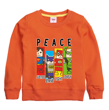 PEACE  pattern printed 2017 new fashion winter autumn sweatshirt high quality sweater children's hoodie clothing with 8 colors