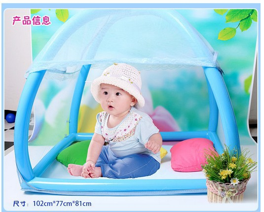 2014 send pump summer inflatable safety easy to carry Baby folding children crib ger baby bed nets/Free shipiing send pump cap eu to send carp