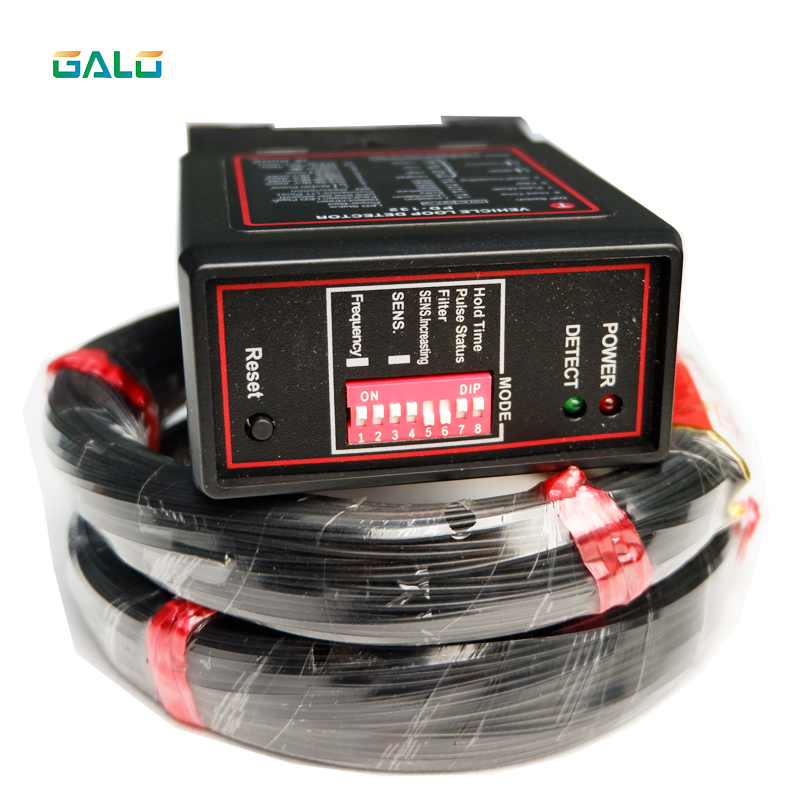 Single Channel Magnetic Vehicle Loop Detector For Gate And Door Access With 100m Loop Coil Cable