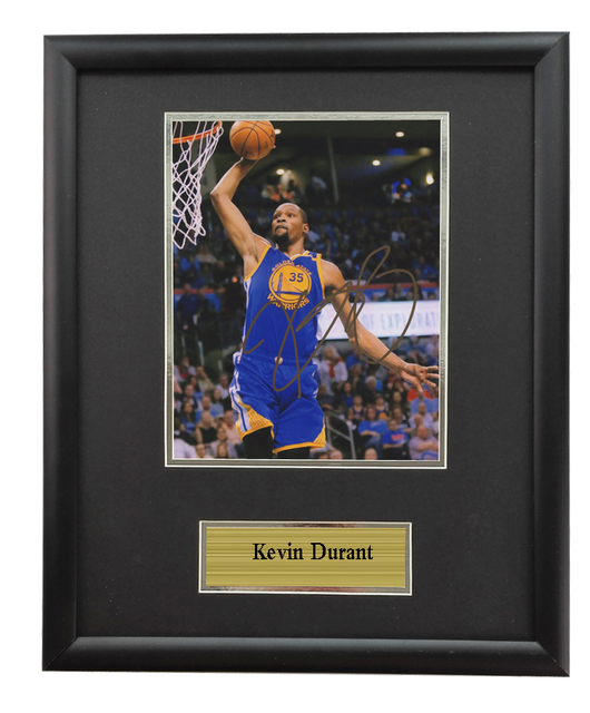 Sa Coa Durant Nba Autographed Signed Photo Framed Golden State