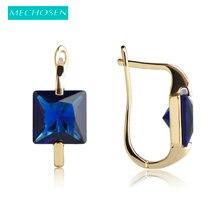 MECHOSEN Rhinestone Square Earrings Copper Bijuterias Brincos Pequenos Ears Piercing Pendientes Aretes For Personality Women
