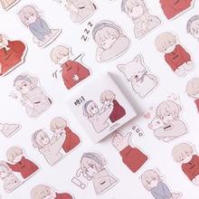 Mohamm Love увертюра милые в коробке Kawaii Наклейки планировщик для скрапбукинга канцелярские товары японский дневник наклейки