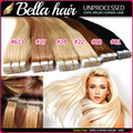 (6 Colors Available) 7A PU Skin Weft Straight Tape Hair Extensions Brazilian Virgin Hair Straight Tape In Human Hair Extensions