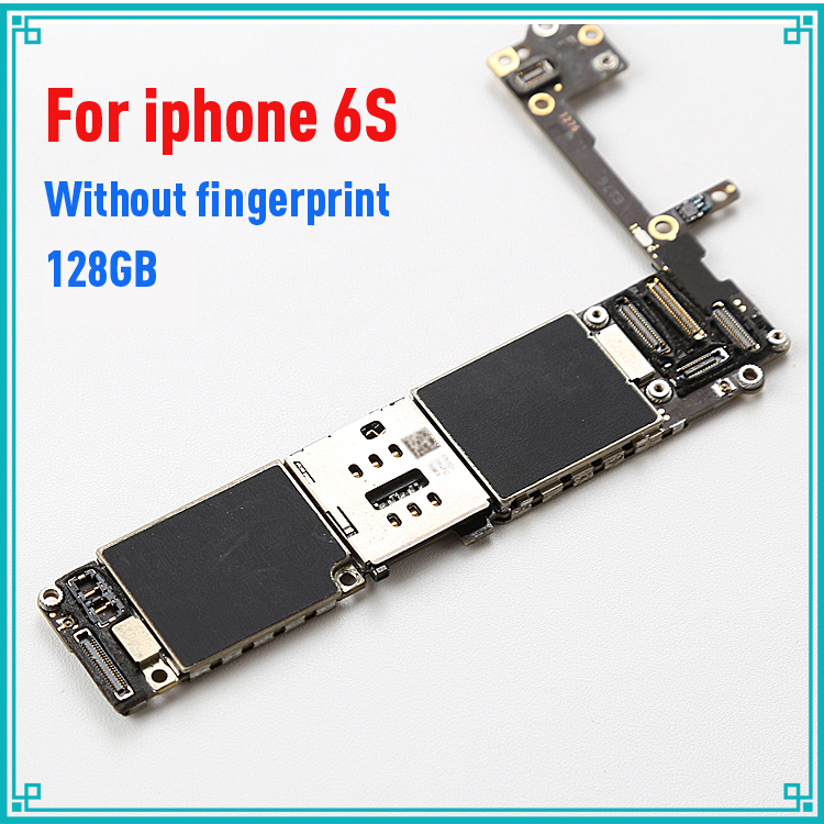 for iphone 6S 4.7inch original motherboard 128GB without touch ID IOS system logic board mainboard without fingerprint