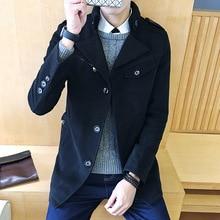 Jacket Raincoat Men Knit Coat With Detachable Lining Drape Male Nylon Black Trench Winter Jackets Long Coats Sleeve Cape F12