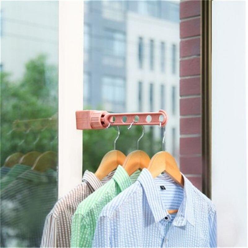 Portable Clothes Windows Hanging Rack Outdoor Indoor Coat Jacket Underwear Socks Drying Storage Hangers With Hook For Traveling
