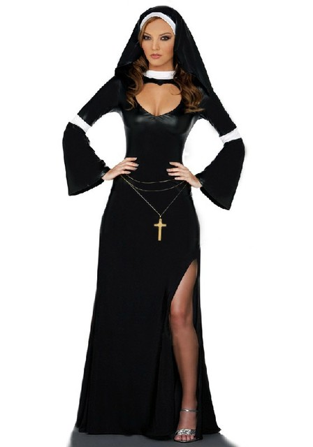 Las Nun Fancy Dress Costume Relgious Figure Nuns Hen Night Outfit