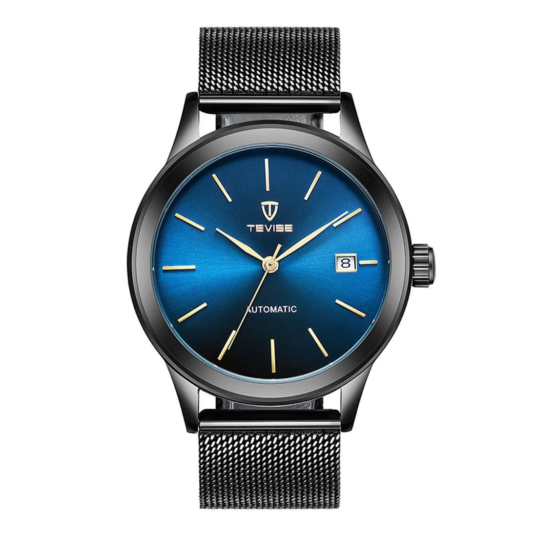 Simple quartz wristwatch men casual mesh strap business watch waterproof big dial date display sport watch new relogio masculino