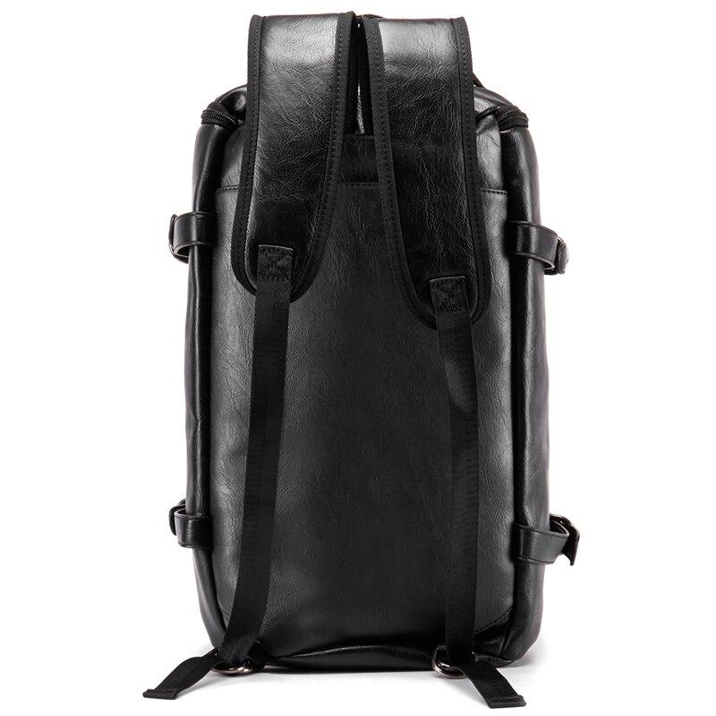 VIDENG поло Для мужчин рюкзак кожаный бренд 14 дюймов ноутбука дорожные сумки большой Ёмкость Bagpack школьная сумка Повседневное мужской рюкзак ...