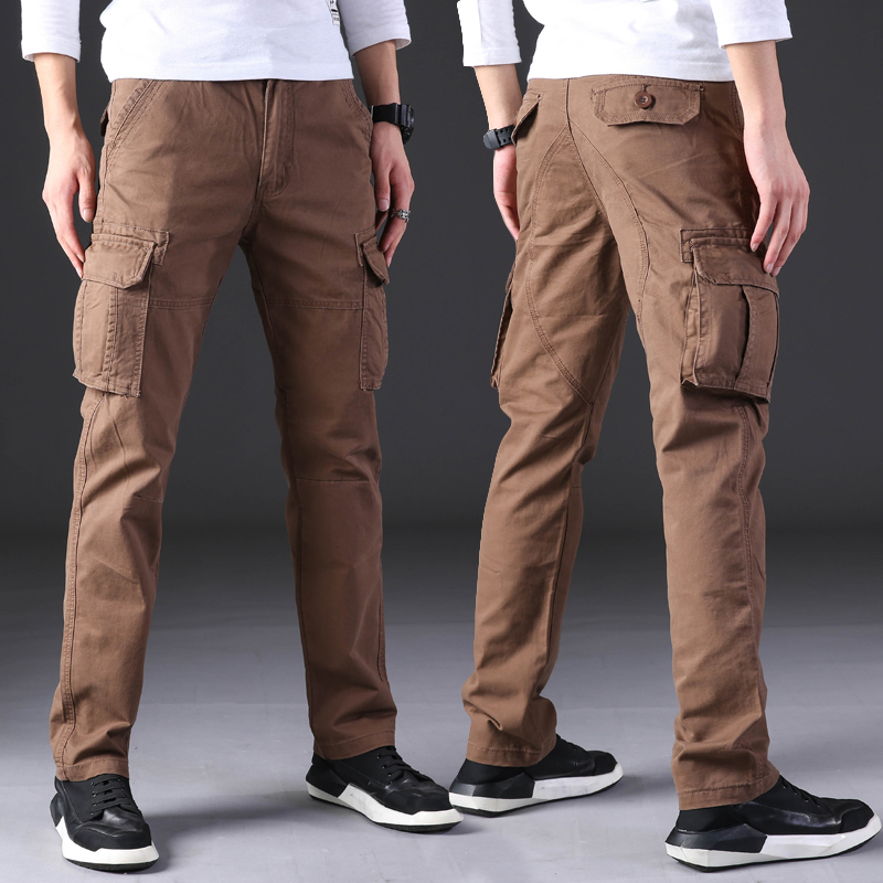 New men's casual pants cargo pants straight men clothes clothing trousers Spring 2019 black brown 5 colors new fashion modis