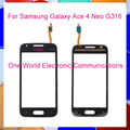 """Black White 4.5"""" For Samsung Galaxy ACE 4 BIANCO SM-G316H G316F G316 Touch Screen Touch Panel Digitizer Sensor Front Glass Lens"""