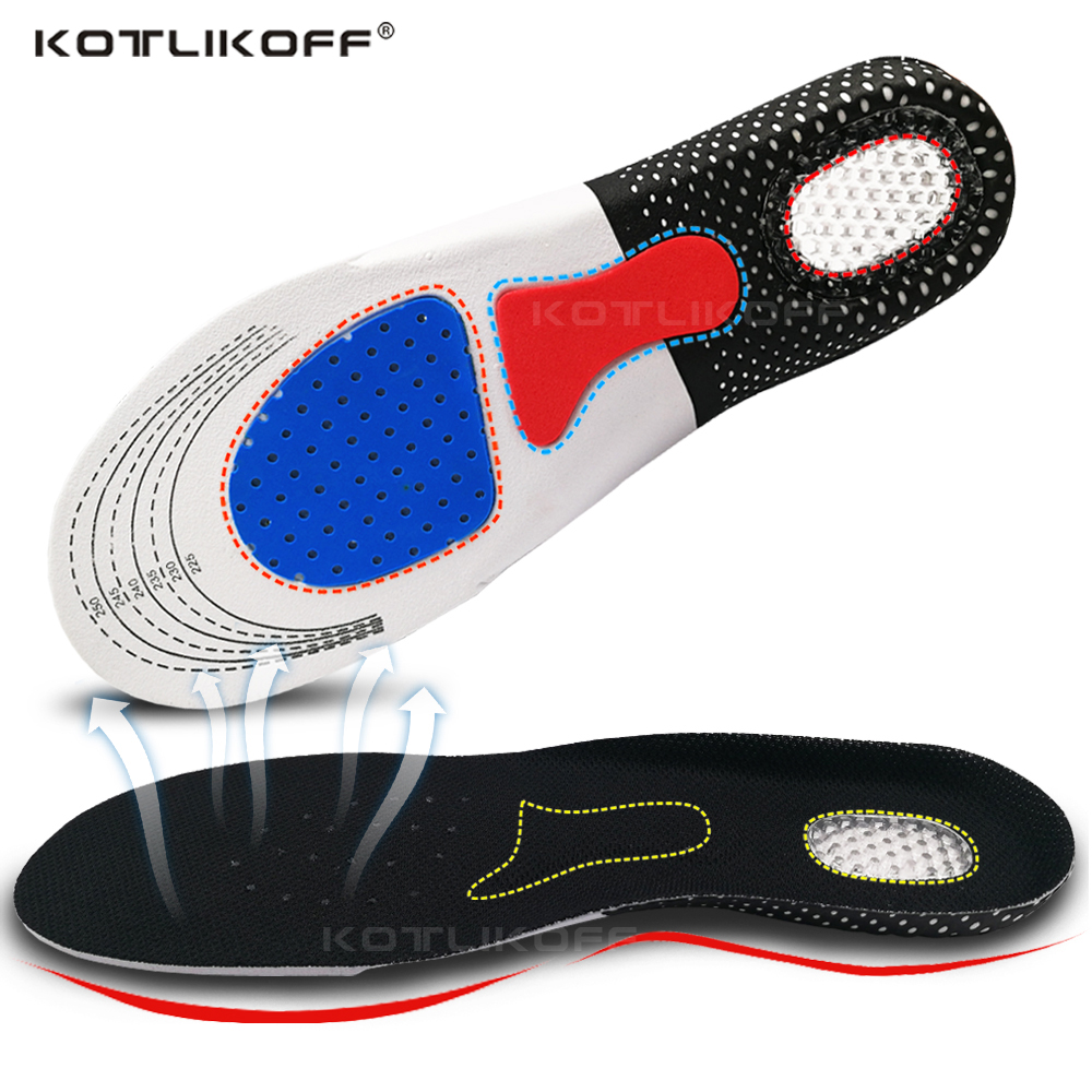 Silicone Gel Insoles Foot Care For Plantar Fasciitis Heel Spur Running Sport Shoes Insoles Shock Absorption Pads Men Women