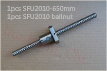 Диаметр 20 мм швп SFU2010 длина 650 мм плюс RM2010 2010 шариковая гайка с ЧПУ DIY Резьба машины 1 шт.