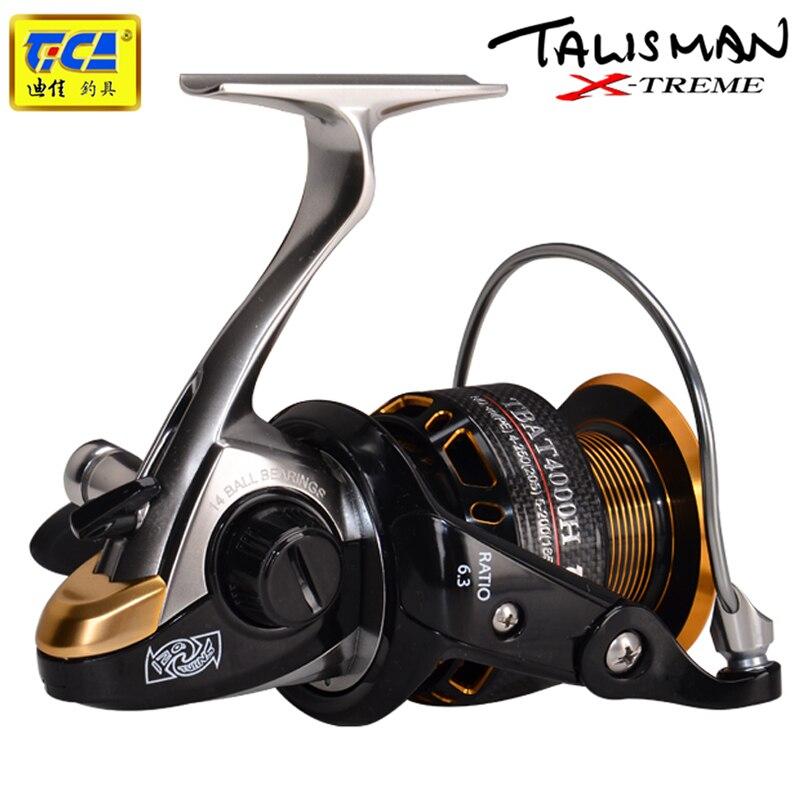 TICA Alta Velocidade Fishing Reel 14RBB + 1RB 5.2: pesca da carpa 1 10 kg Max Arraste Carretel De Arremesso de Isca Fundição Molinete de Pesca Da Carpa