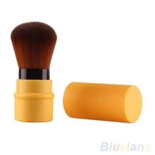 Fashion Retractable Blush Blusher Foundation Face Powder Cosmetic Makeup Brush 7LCJ