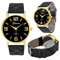 Unisex Watch 9 Cores Genebra Montre Homme PU de Couro de Pulso de Quartzo Relógios Casuais Mulheres Relógio Saat Moda horloge Feida