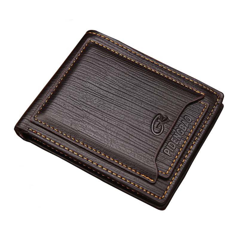 Men Wallet Leather Women Card Coin Holder 2017 Hot Sale Vintage Short Slim Photo Money Clip Cash Designer Male Purse Portomonee