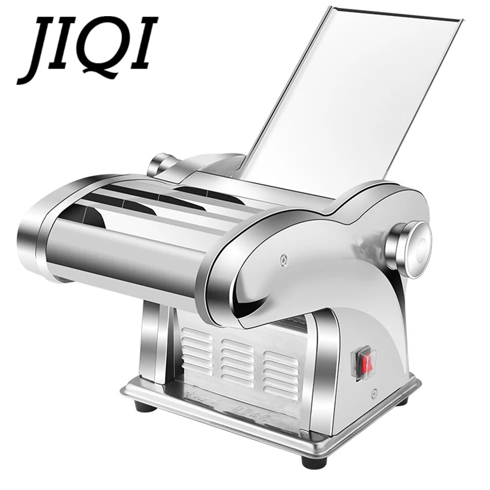 JIQI Electric Noodle Press Machine Spaghetti Pasta Maker Commercial Stainless Steel Dough Cutter Dumplings Roller Noodles Hanger