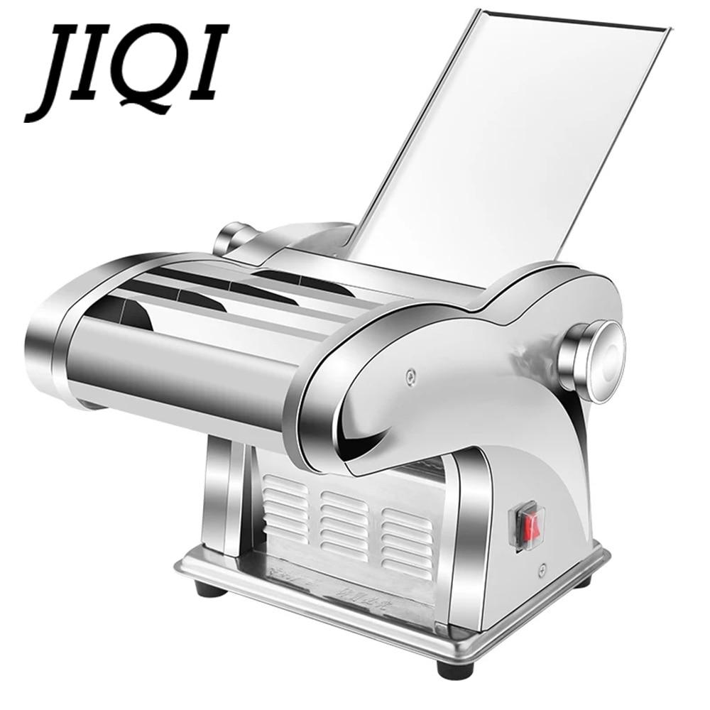 JIQI Электрический пресс для лапши машина для спагетти паста производитель коммерческих нержавеющая сталь тестомес пельменей ролик лапша вешалка
