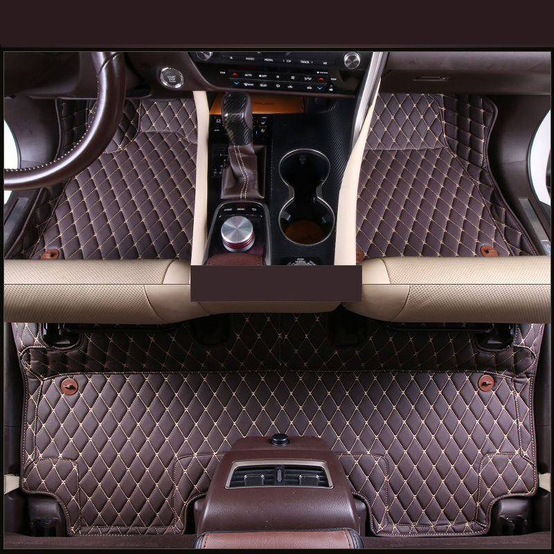 lsrtw2017 car styling interior floor rug carpet for lexus rx200t rx450h rx350 2015 2016 2017 2018 4th generation AL20 new arrival for lexus rx200t rx450h 2016 2pcs stainless steel chrome rear window sill decorative trims