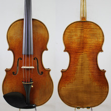 Antique Oil Varnish! After Guarner Del Gesu Viola 15-16.5 Inch M5170 European Wood