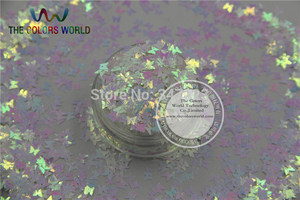 Image 2 - TCT 102 Iridescent Pearlescent colors Glitter Butterfly shape for Nail design nail art and DIY Size:3mm