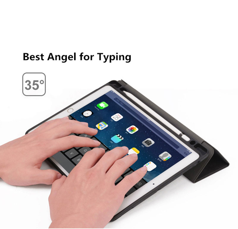 Ipad Pro 12.9 Case with Pencil Holder Smart Flip Case 10