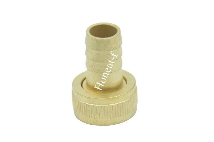 Brass quot barb fht hose repair connector garden