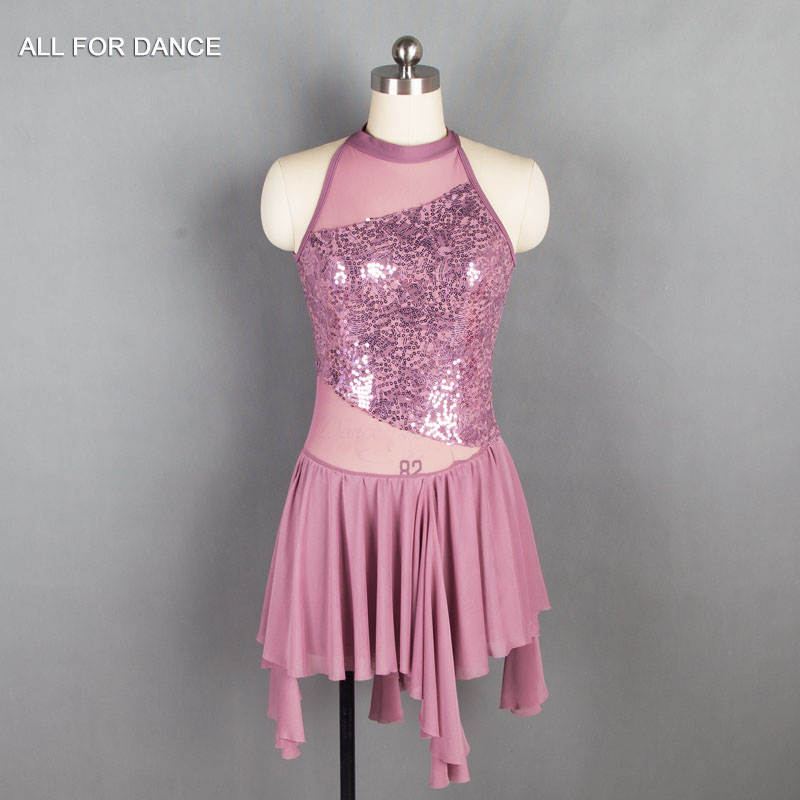 New Sequin Lace Top Bodice Lyrical Dance Costume Women Ballet Costume Dance Dress Girl Dance Costumes image