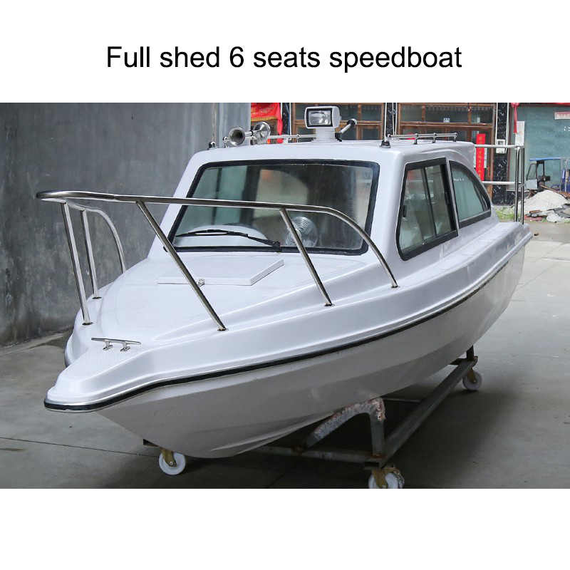 Full Shed / Half Shed Fiberglass Boat FRP High Speed Fishing Vessel Aluminum Yacht Sea Fishing Ship Boat