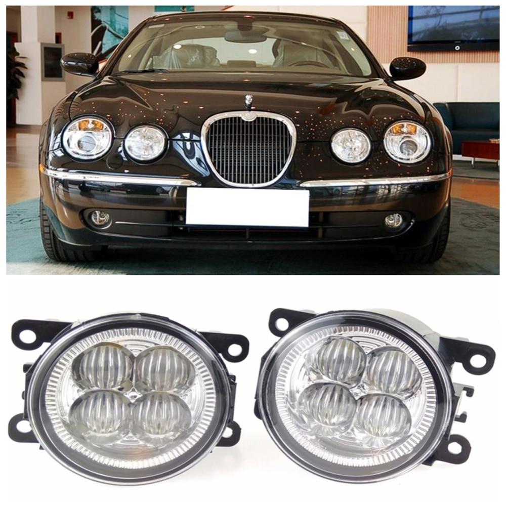 For JAGUAR S-Type CCX Saloon  1999-2008 10W High power high brightness LED set lights lens fog lamps for jaguar s type 1999 2008 led lamps fog light lights car styling 1 set
